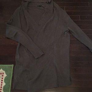 Versatile long open front sweater